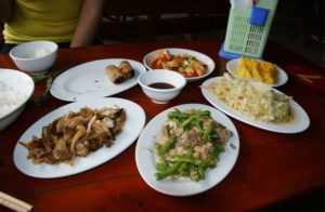 Овощи в блюдах Вьетнама