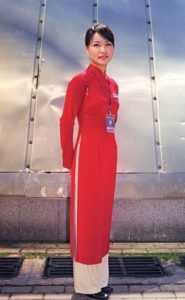 Платье ao dai во Вьетнаме