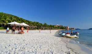 Пляж на острове Винперл