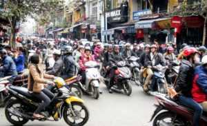 В Ханое постепенно собираются запретить движение на мотоциклах