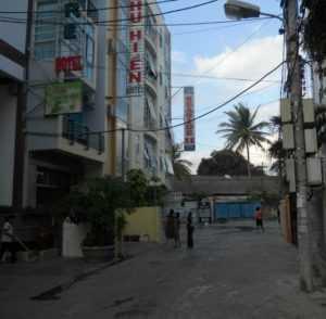 Улица рядом с отелем