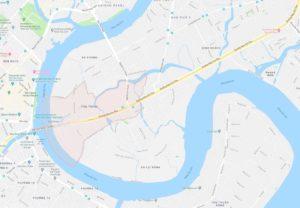 Корректировка в переселении района Thu Thiem в Хошимине