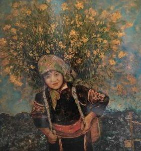 Выставка лаковых картин в Ханое