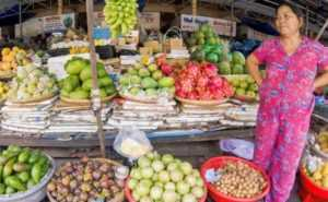 Рынок фруктов во Вьетнаме