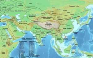 Государство Дайвьет на древней карте Азии