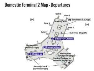 Схема терминала №1 в аэропорту Ханоя