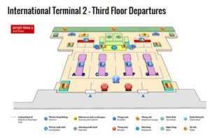Схема терминала №2 в аэропорту Ной Бай