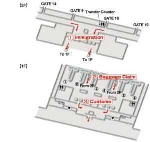 Схема терминала. Аэропорт Нячанг