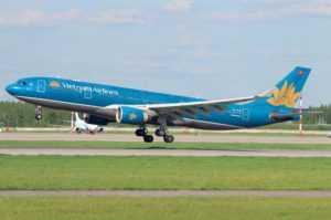 Самолёт Vietnam Airlines в аэропорту Домодедово