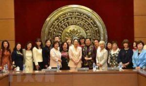 Женщин-парламентариев из Японии встретили в Ханое