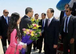 Президент Вьетнама находится с визитом в Египте