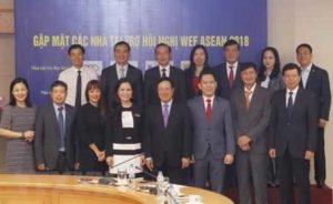 Вице-премьер Вьетнама встретился со спонсорами WEF ASEAN 2018