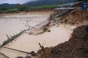 Затопление деревень в провинции Ba Ria-Vung Tau