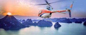 Вертолётные туры над бухтой Халонг