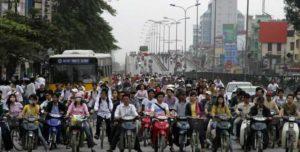 Вьетнам на четвёртом месте в мире по числу мотоциклов