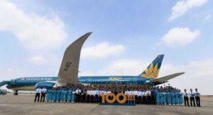 Авиапарк Vietnam Airlines увеличился до 100 лайнеров